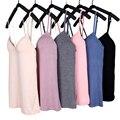 Modal Adjustable Strap Built In Bra Padded Self Mold Bra Tank Tops Camisole Women summer vest best selling