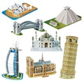BOHS Escala de Papel Em Miniatura Modelo Torre Eiffel Ponte Grande Muralha Torre Inclinada de pisa 3d Puzzle para As Crianças Do Mundo Grande Arquitetura