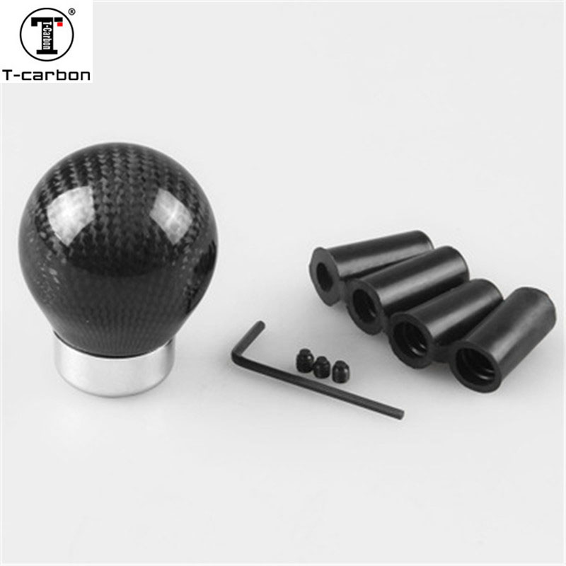 Real Carbon Fiber Aluminum <font><b>Gear</b></font> <font><b>knob</b></font> Manual Transmission Aluminum <font><b>Gear</b></font> Shift <font><b>Knob</b></font> For Volkswagen <font><b>vw</b></font> <font><b>Golf</b></font> <font><b>Mk3</b></font> EP-SK1717S image