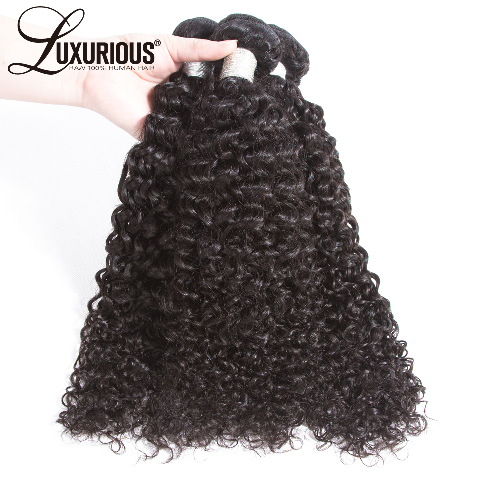 Brazilian Curly Hair Weave Bundles 100% Human Hair Bundles Natural Black Hair Extensions Remy Hair Weave 1/2/3 Pieces