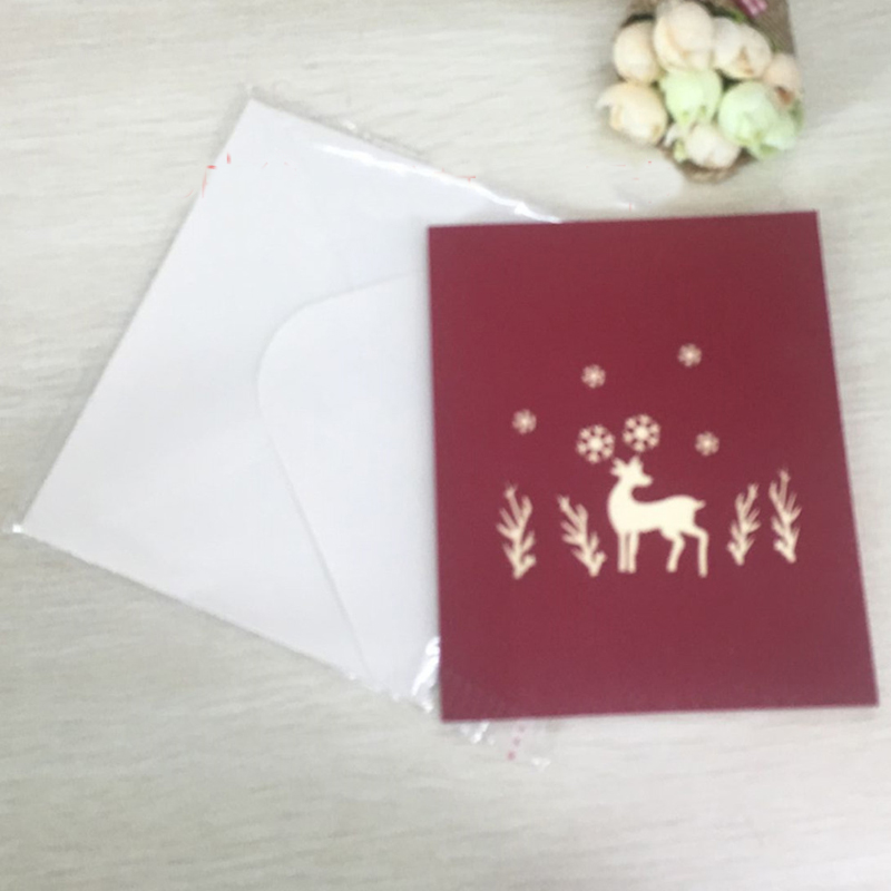 Handmade pop up greeting cards pop up card template handmade handmade pop up greeting cards 1pcs christmas deer laser cut 3d handmade pop up greeting m4hsunfo