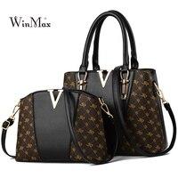 2 PCS Women Bags Set Leather Handbag New Women Tote Bag Ladies Handbags Shoulder Bag for Women 2018 Luxury Messenger Bag Bolsas