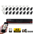 SunChan 16CH FULL HD 1080 P AHD CCTV DVR Sistema 16 PCS 2.0 Megapixels IR Ao Ar Livre Sistema de Câmera de Segurança de Vigilância Em Casa 3 TB HDD