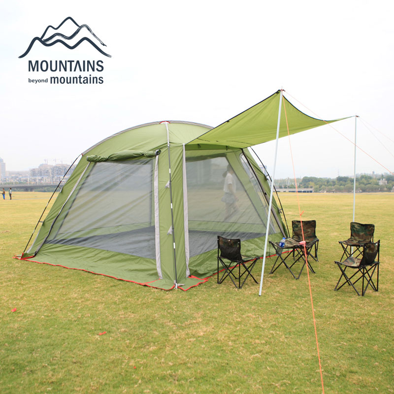 New Super Big Luxury 6-8perons Family Tent Party Tents Beach Camping Tent Family Party with Breathable Nets 520*430*210cm