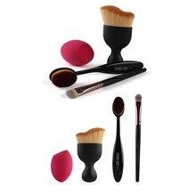 Hot Sales 4 pcs in set makeup sponge Oval Makeup Tool Cosmetic Foundation Cream Powder Blush Makeup Brush