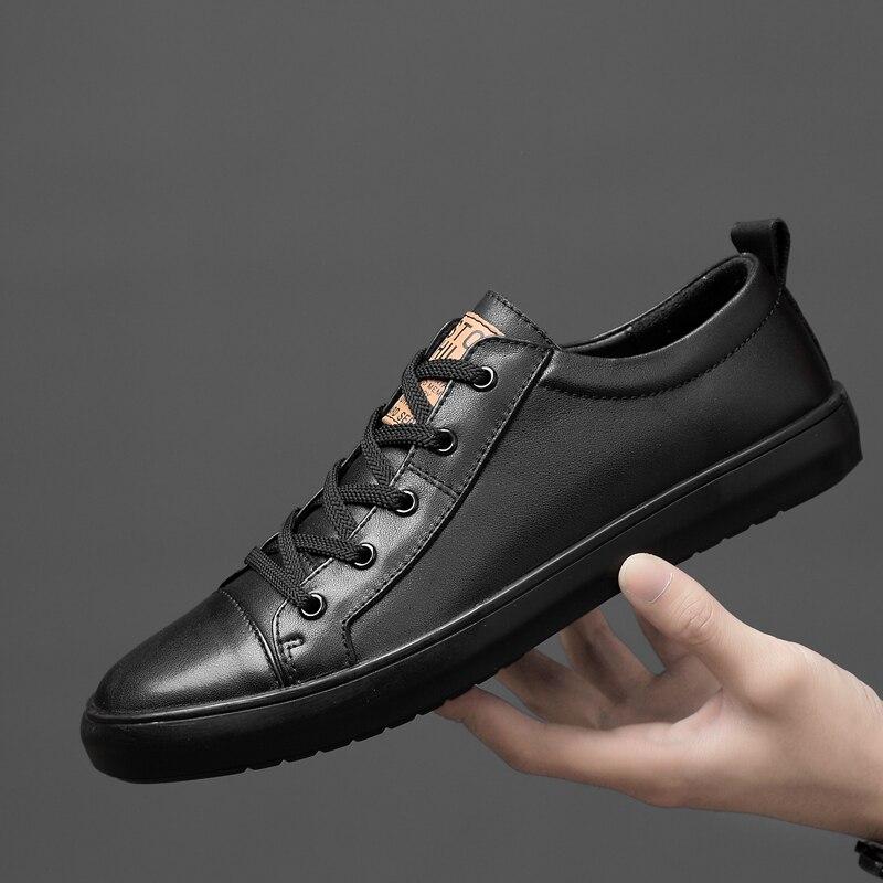Zapatos casuales de cuero genuino zapatos de Hombres hechos a mano de costura vintage zapatos de encaje Natural fondo de goma zapatos de zapato de cuero de hombre p4