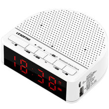 Leadstar MX-17 Jam Alarm Bluetooth Speaker 2 In 1 Speaker Nirkabel Subwoofer FM Radio Home Bed Speaker dengan Ponsel Pemegang(China)