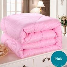 Weiß rosa beige maulbeerseide tröster/decke/tagesdecken/bettwäsche/bettwäsche/quilt füllstoff könig königin in voller twin sommer & winter