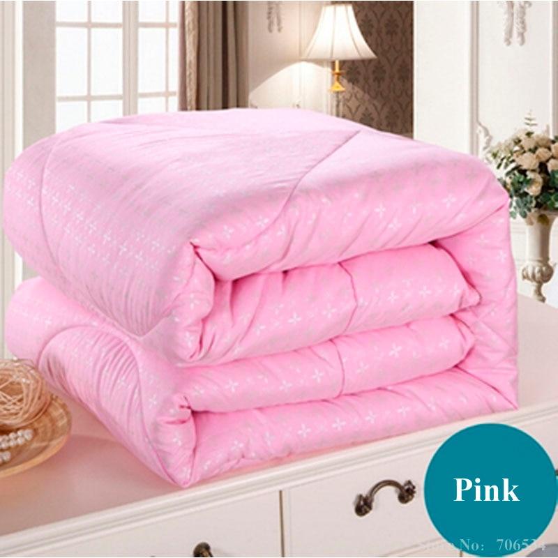 white pink beige mulberry silk comforter/blanket/bedspreads/duvet/bedclothes/quilt filler king queen full twin summer&winter #86