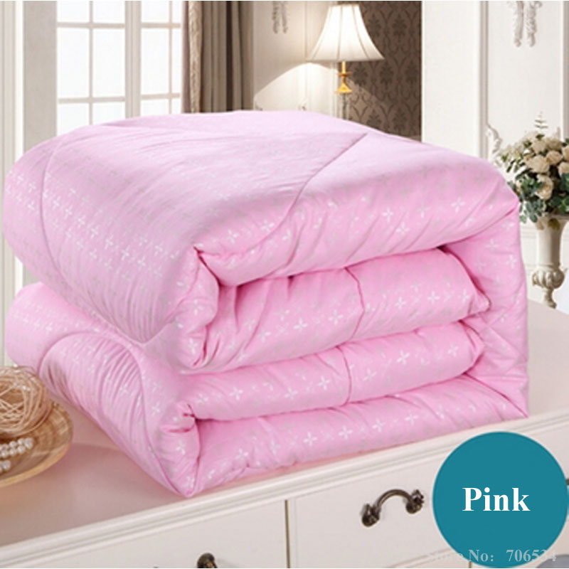 white pink beige mulberry silk comforter/blanket/bedspreads/duvet/bedclothes/quilt filler king queen full twin summer&winter #86