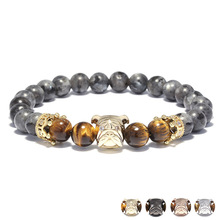 Loyalty Dog Bracelet for Men Classic Fashion Stone Bead Charm Bracelets & Bangles For Men loyalty Jewerly Gift e loyalty