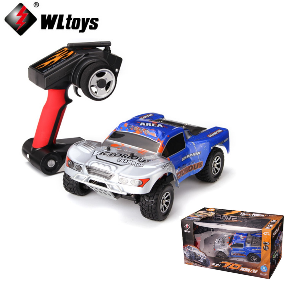 1 set Wltoys A969-B 4WD 70km/h 1:18 Electric four-wheel drive short truck High Speed Short Course RC car2.4G 390 Brushed Motor