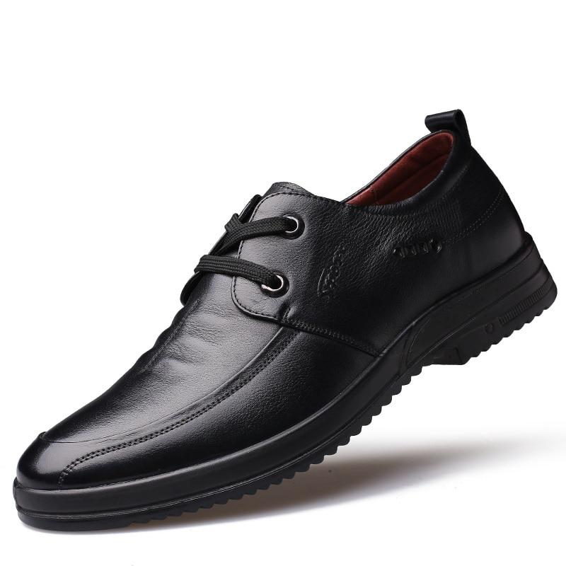 2017 Del Otoño Del Resorte de Lujo de Cuero Genuino Hombres Zapatos Casuales Zap