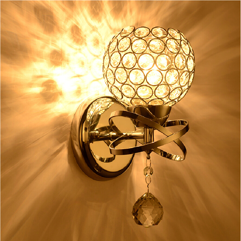 Aliexpress.com : Buy Modern Crystal ball Wall Lamp bedside Bedroom ...