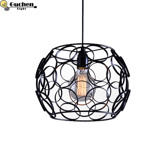 Vintage Loft Iron Pendant Lamp Industrial Lighting Bar Cafe Bedroom