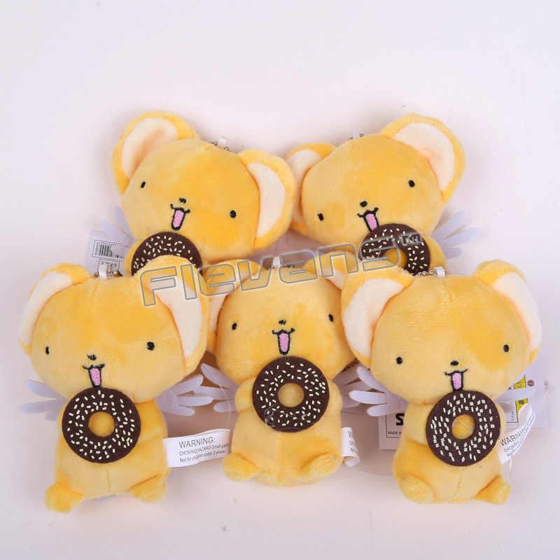 Милая открытка Captor Sakura Kero мини-плюшевые игрушки с цепочкой для ключей мягкие куклы меховой шарик-подвеска игрушки 11 см 10 шт./партия