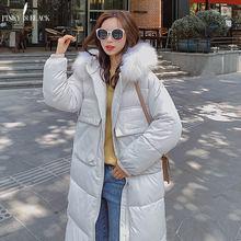 PinkyIsBlack New Long Parkas Female Womens Winter Jacket Coat Thick Cotton Warm Outwear Plus Size Fur