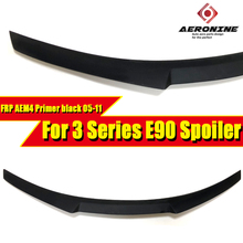 For BMW E90 sedan wing rear Spoiler FRP Unpainted M4 style 3 series 320i 323i 325i 328i 330i 335i rear trunk Spoiler wing 05-11 black frp auto rear tail trunk lid boot spoiler lip wing for bmw e90 sedan 4 door 05 08 m3 320i 323i 325i 330i 335i csl style