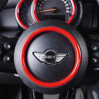 Automotive interior accessories steering wheel decoration sticker For BMW MINI ONE COOPER S F55 F56 F57 car styling Modification
