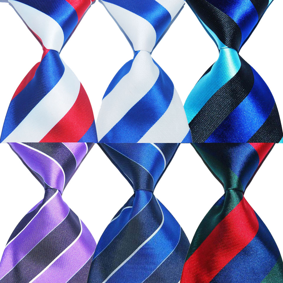 Gift For Men Tie Silk Necktie Striped 10cm Width Fashion Jacquard Woven Formal Wear Business Suit Wedding Party Christmas New
