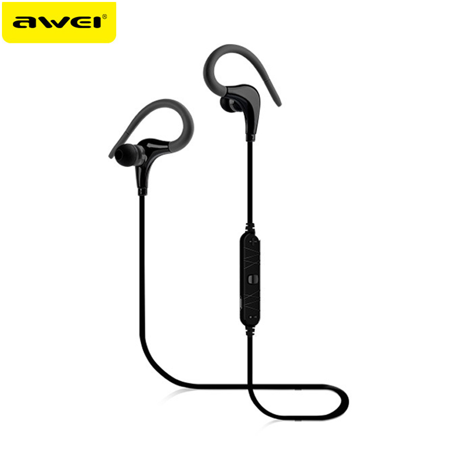 Awei A890BL Sport Wireless Bluetooth Earphone Auriculares Headsets Earbuds With Microphone Fone de ouvido for iPhone/Samsung 3 colors universal wireless earphone fone de ouvido bluetooth earset for iphone 7 7 plus samsung htc xiaomi
