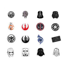 Movie Star Wars Pins Brooches Craft Spaceship Brooch for women men Shirt Collar Accessories(China)