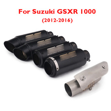 GSXR 1000 Motorcycle Muffler Exhaust Pipe Tip Escape Silencer Connect Mid Link Tube for Suzuki 2012-2016