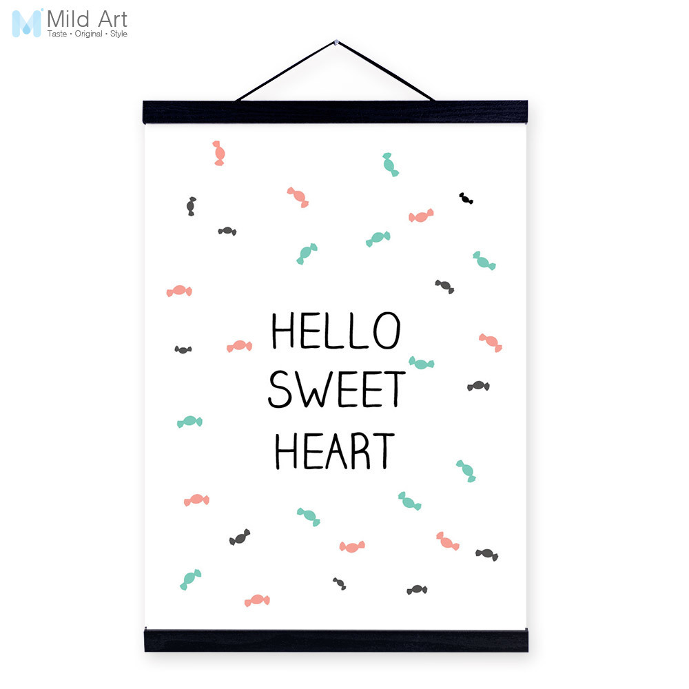 Minimalist motivational typography heart quote wooden framed a4 minimalist motivational typography heart quote wooden framed a4 canvas painting home decor wall art print pictures poster scroll in painting calligraphy jeuxipadfo Image collections
