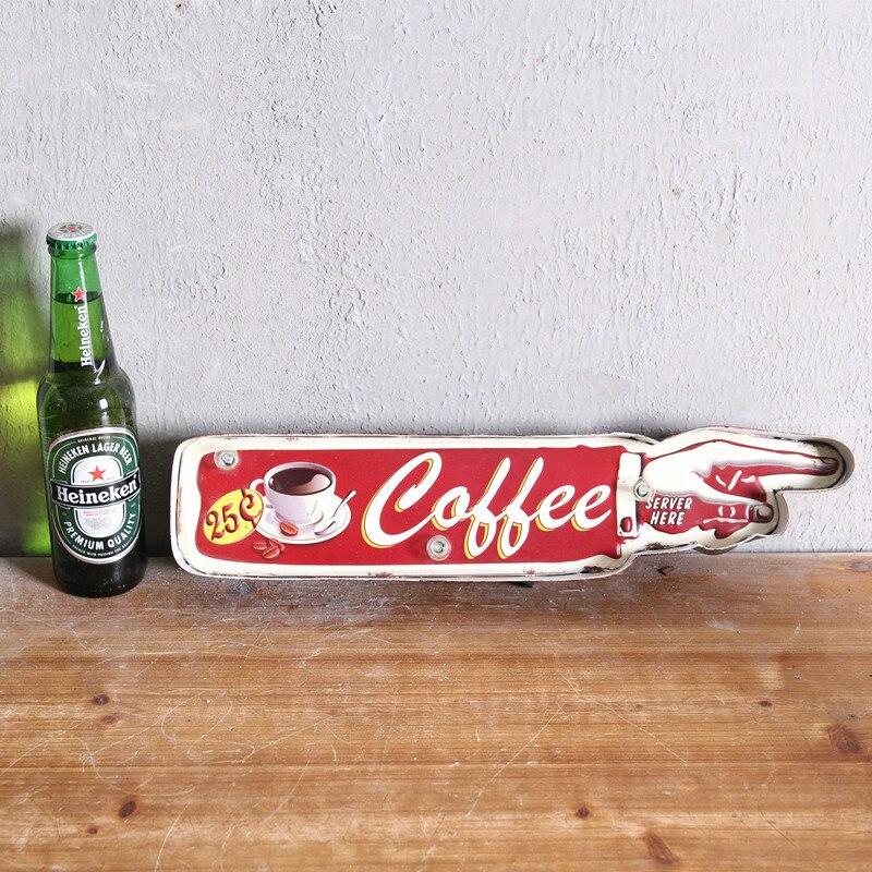 LED néon signe Vintage décor à la maison bière café Cerveja Bar boîte à lumière Vintage minable chic décoration murale Art Placa Decorativa