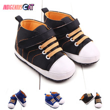 Baby Shoes Canvas Classic Sports Sneakers Infant Toddler Anti-slip Soft Sole Crib Shoes Newborn Boys Girls First Walkers Shoes недорого