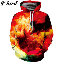 T-bird 2017 Brand Men Hoodie Lovers 3D Printing Male Hip Hop Sweatshirt Mens Hoodies Cotton Sportswear Autumn Pullover