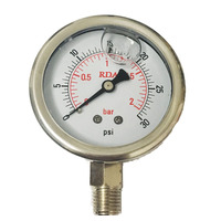 2 bar 30 PSI Manómetro Lleno de Aceite