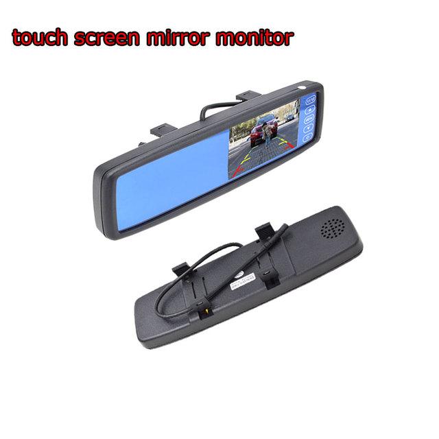 Matrícula Invertendo Câmera Espelho LCD Monitor Com Tela Sensível Ao Toque