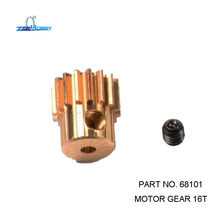 HSP RACING RC CAR SPARE PARTS 68101 MOTOR GEAR 16T OF RGT 1/10 ELECTRIC ROCK CRUISIER RC CAR 136100 цена