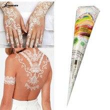 Естественная растительная, хна конусы клей для временных татуировок чернила белая роспись по телу Инструменты татуировки аксессуары