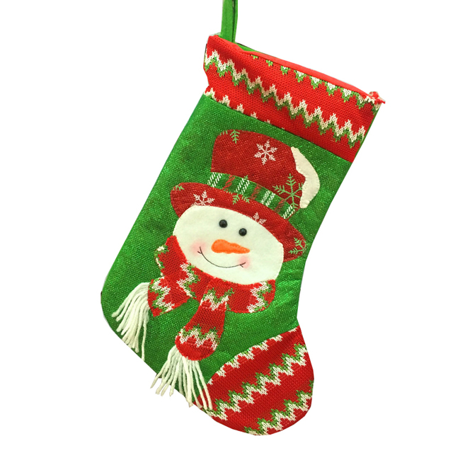 hot christmas gifts for children christmas stockings socks decoration cute candy bag socks christmas tree ornaments