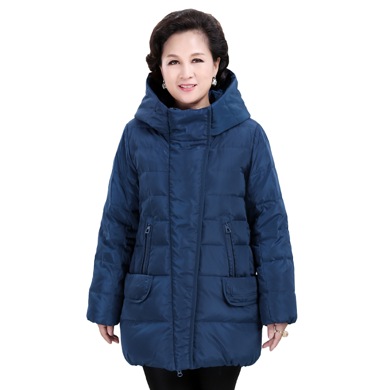 Winter Women Down Jacket Solid Color Large Size Mid-long Thickening Outerwear High Quality Hooded Warm Ladies Down Jacket Ll689