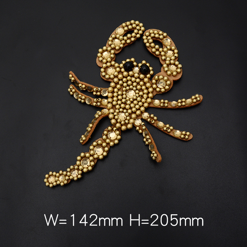 GUGUTREE embroidery beaded big crown patches scorpion patches badges applique patches for clothing SK 1 in Patches from Home Garden