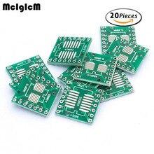 Mcigicm 20 шт. TSSOP14 SSOP14 SOP14 SMD в DIP14 IC адаптер конвертер гнездо совета Модуль Адаптеры для сим-карт пластины 0.65 мм 1.27 мм Integrated