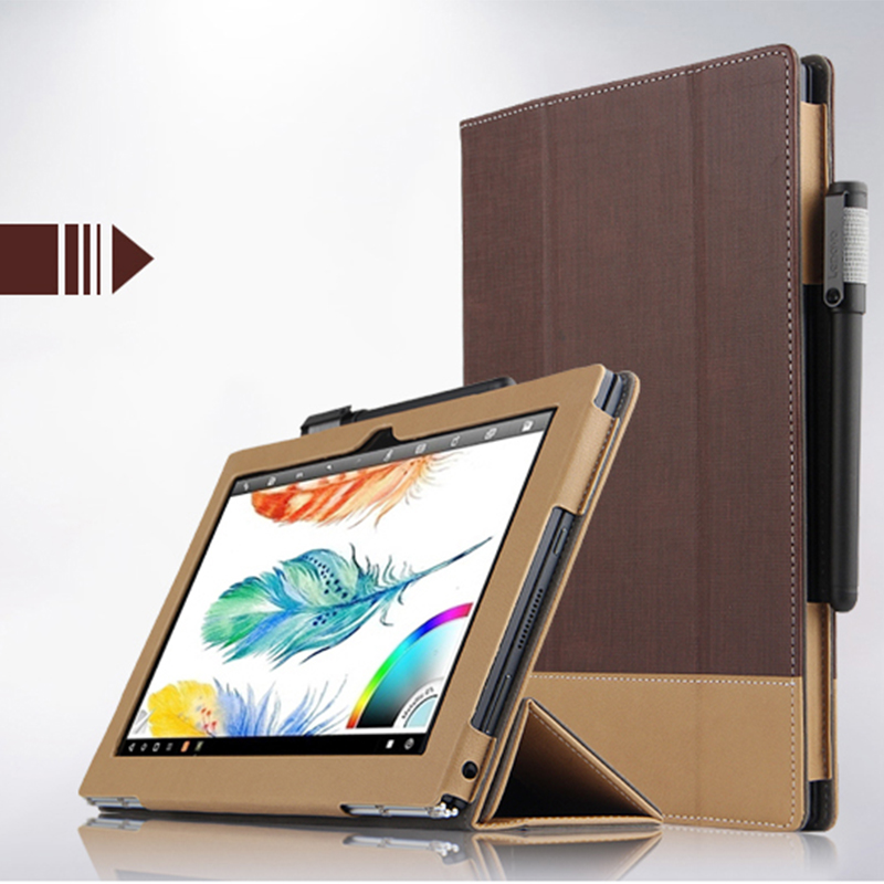 все цены на  High Quality Fashion Leather Case For Lenovo YOGA BOOK Case Luxury 10.1
