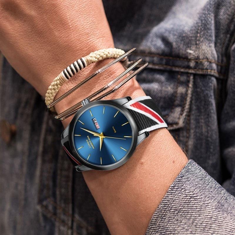 ANGELA BOS Thin Nylon reloj de pulsera para hombre reloj de moda para - Relojes para hombres - foto 5