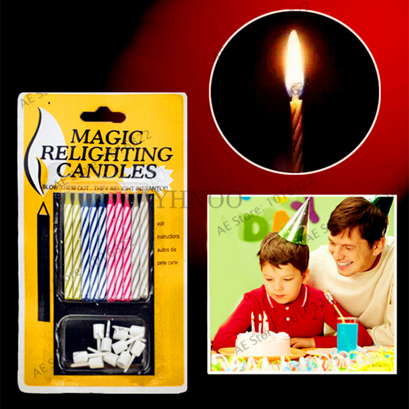 Home & Garden Dependable 10pcs Magic Relighting Candles For Birthday Fun Party Cake Boy Girls Trick Toys- Home Decor