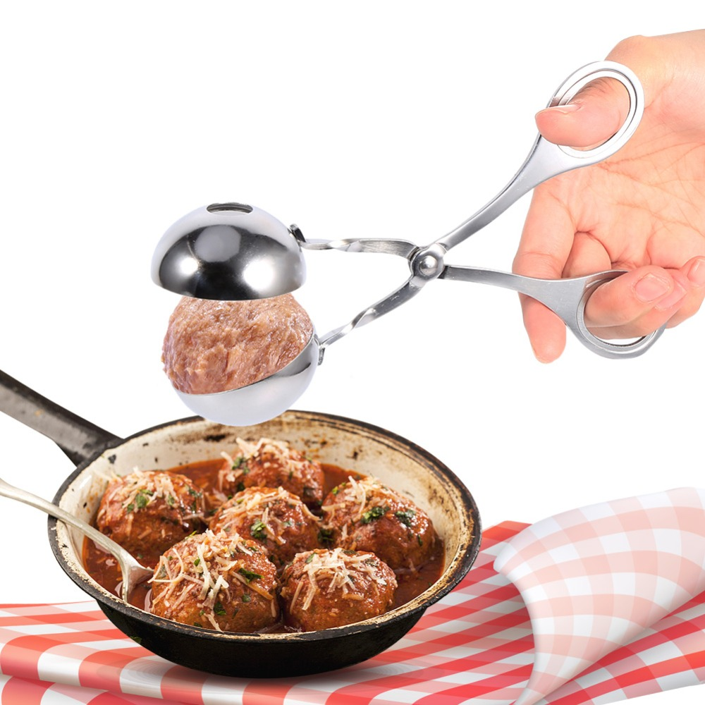 Convenient Kitchen Craft Meatball Maker Stainless Steel Stuffed MeatBall Fish MeatBall Maker.