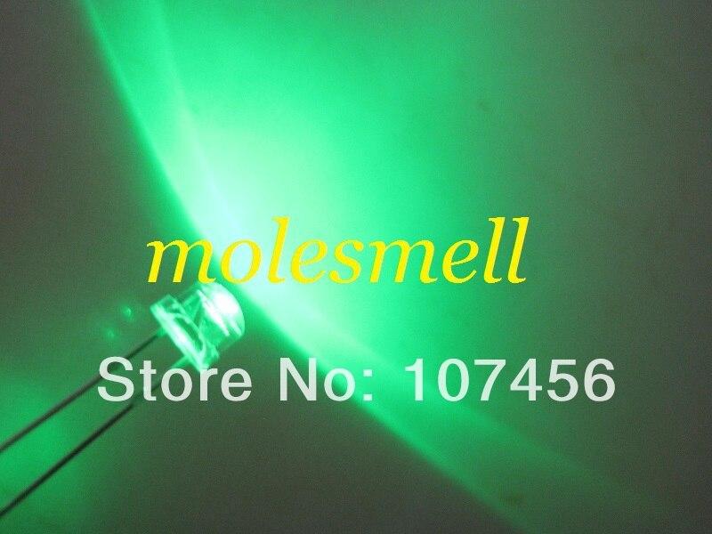 10000 шт/партия Быстрая! 5 мм соломенная шляпа зеленый светодиодный(3000mcd) 5 ММ strawhat зеленый светодиодный большой угол светодиодный