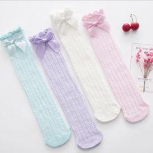 Принцесса для маленьких девочек до колена дышащие хлопковые носки Детские носки летние носки для девочек милые