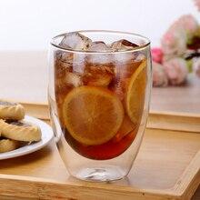 1 шт., стеклянная чашка с двойными стенками для кофе, чая, кружки для сока, молока, кафе, чашка, Термостойкое пивное коктейльное стекло, es Cup