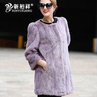 Сексуальное Тонкое меховое Женское пальто из натуральной норки для женщин зима осень Брендовое пальто распродажа модная верхняя одежда Вы