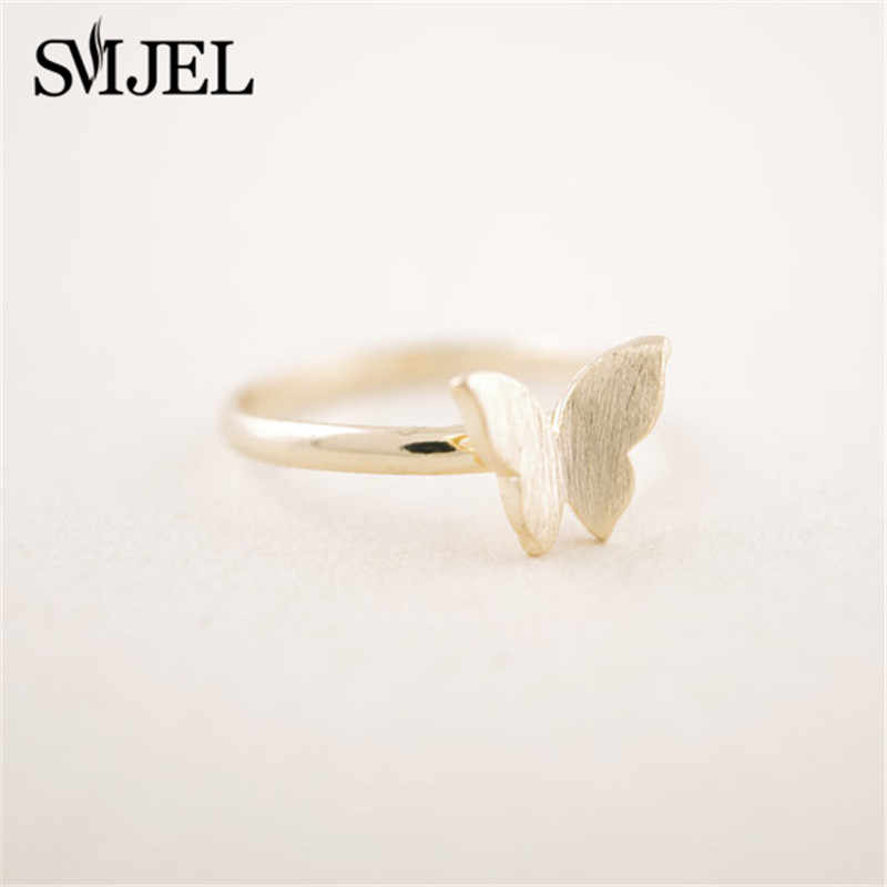 SMJEL śliczne Butterfly Rings dla kobiet Ringen zaręczyny Wedding Party damski pierścionek biżuteria anillos 2019