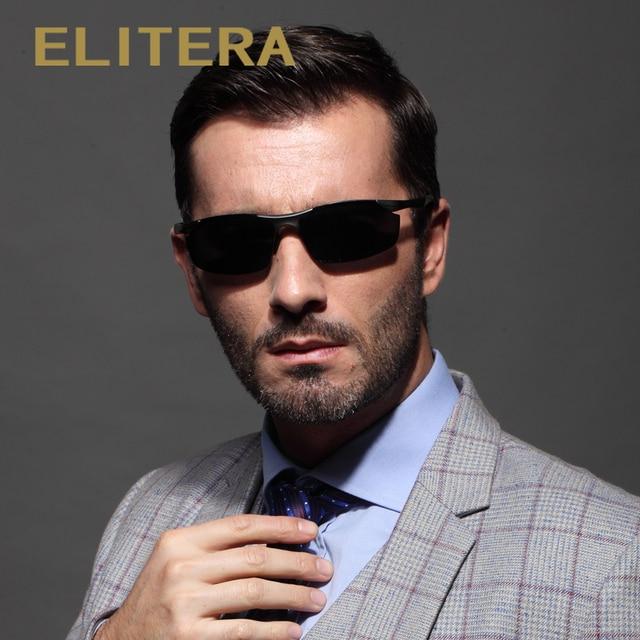 f7f690fe95 ELITERA Aluminum HD Polarized Sunglasses Men Classic Brand Designer driving  Eyewear sunglass E8179