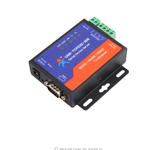 USR-TCP232-306 Serial To TCP IP Converter Support DNS DHCP Built-in Webpage RS232 RS485 RS422
